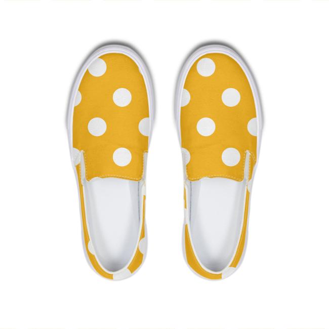 Goods Yellow And White Polka Dots Slip